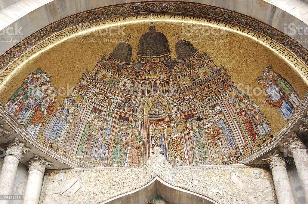 mosaic at St Mark's Basilica, Venice royalty-free stock photo