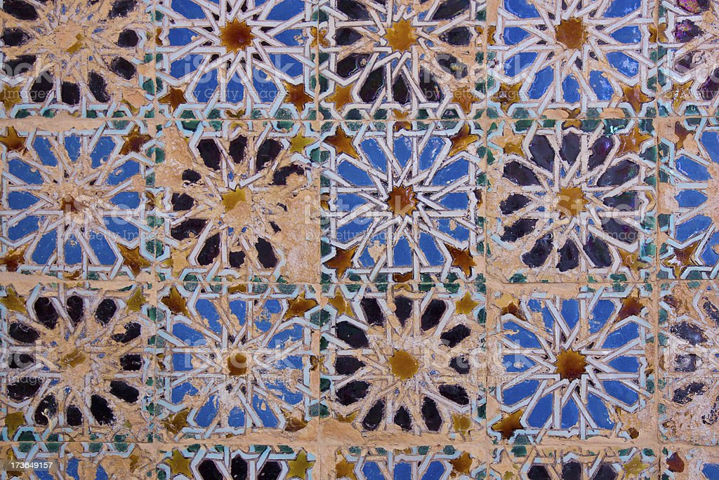 Mosaic at the Cartuja monastery,  Seville, Spain royalty-free stock photo