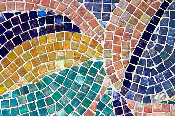 mosaic background - mozaïek stockfoto's en -beelden