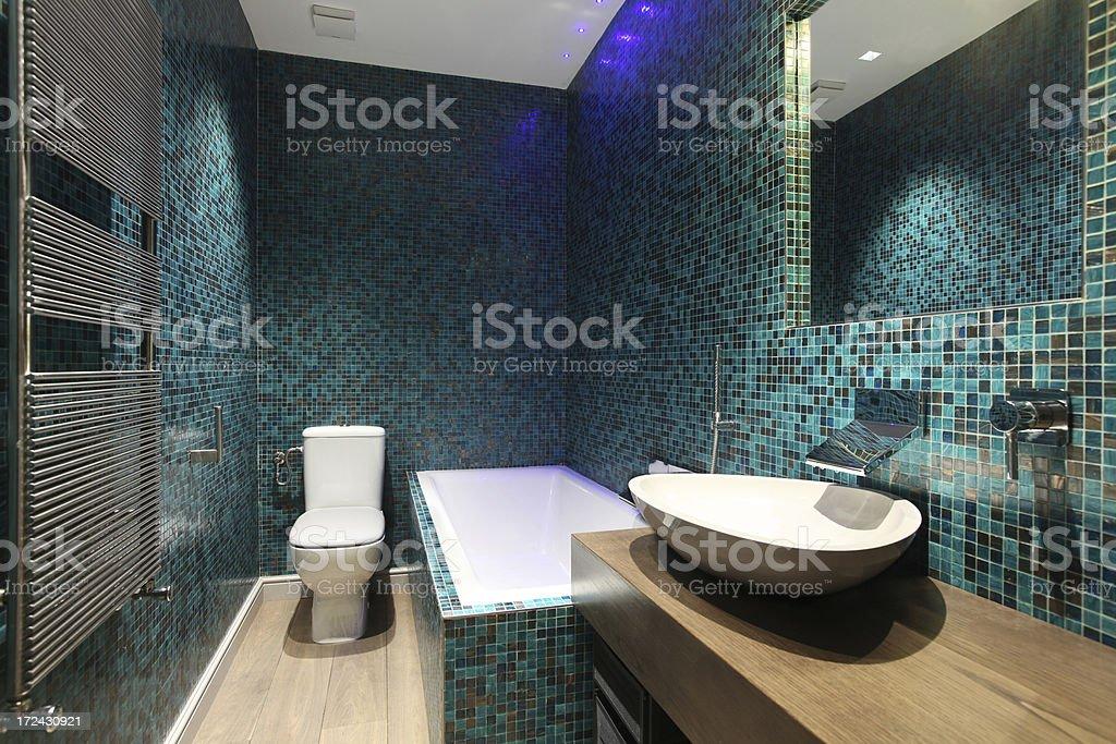 Mosaic Bathroom royalty-free stock photo