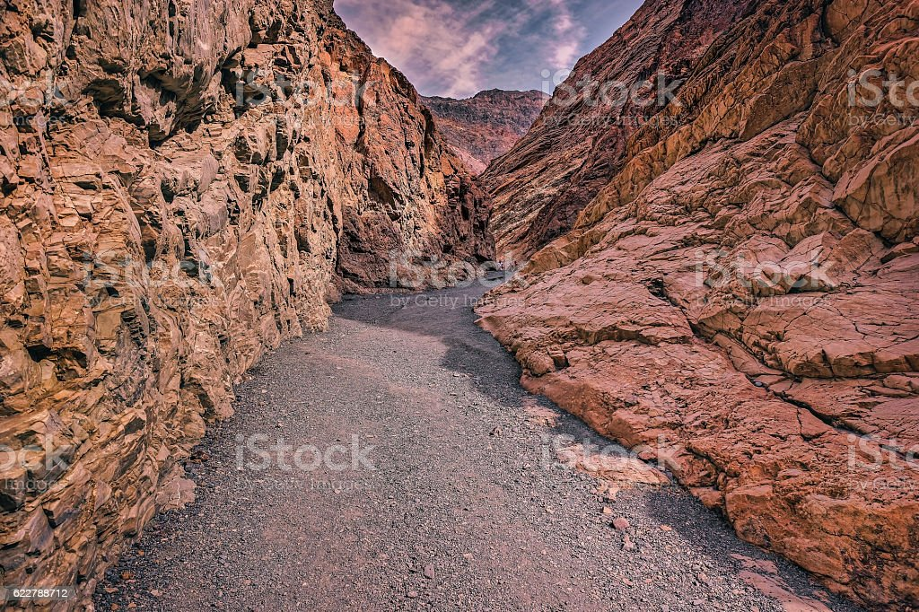 Mosaic Canyon stock photo