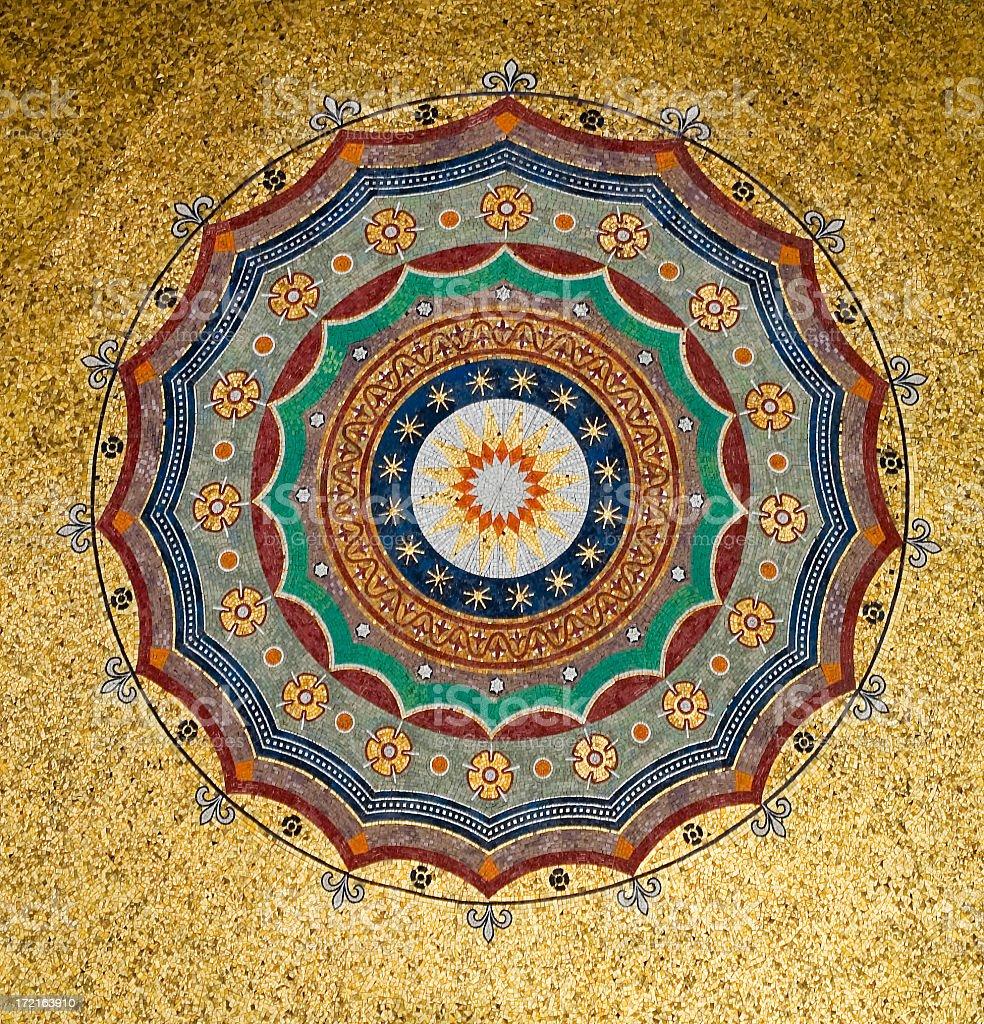 Mosaic ceiling. stock photo