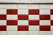 mosaic ceramic tiles on the wall in the interior or pool