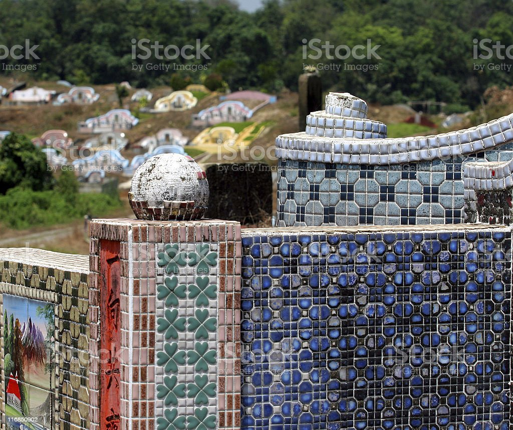 Mosaic Chinese Grave royalty-free stock photo