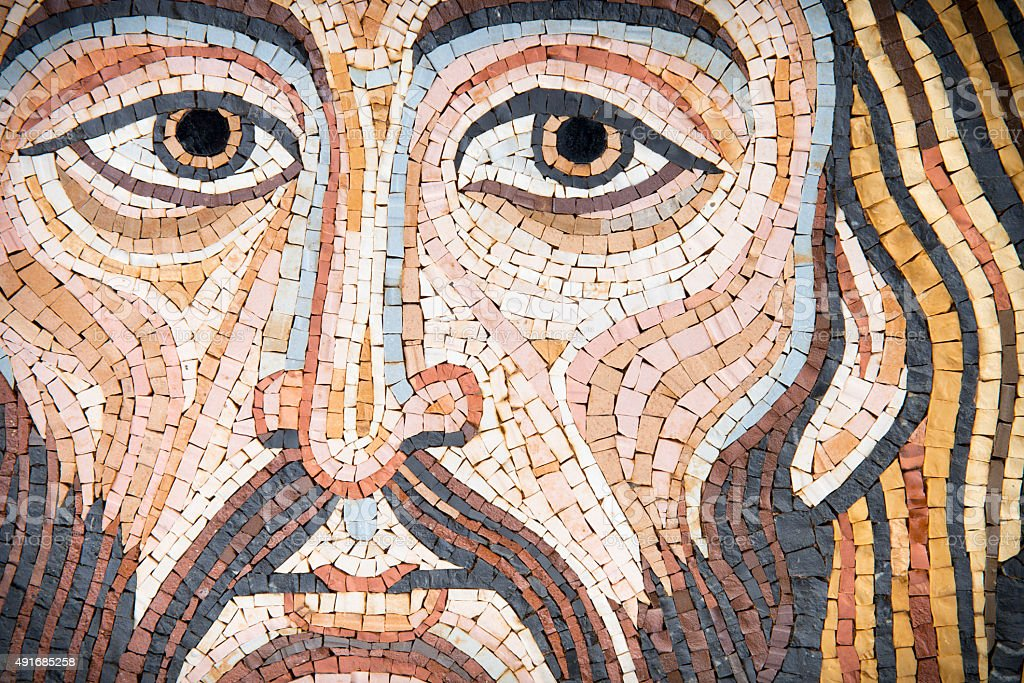 Mosaic: Christ's Face stock photo