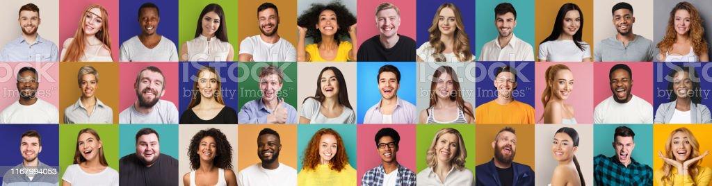快樂和成功人士的馬賽克拼貼畫 - 免版稅一個人圖庫照片