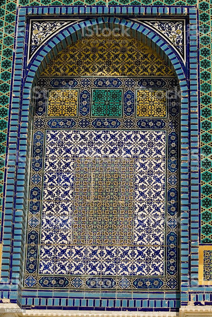 Mosaic detail, Dome of the Rock royalty-free stock photo