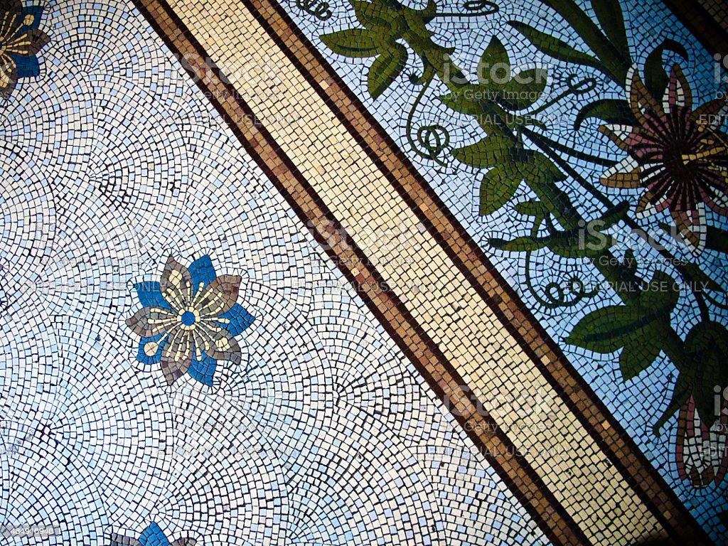 Piso de mosaico de Buenos Aires, Argentina Catedral - foto de acervo