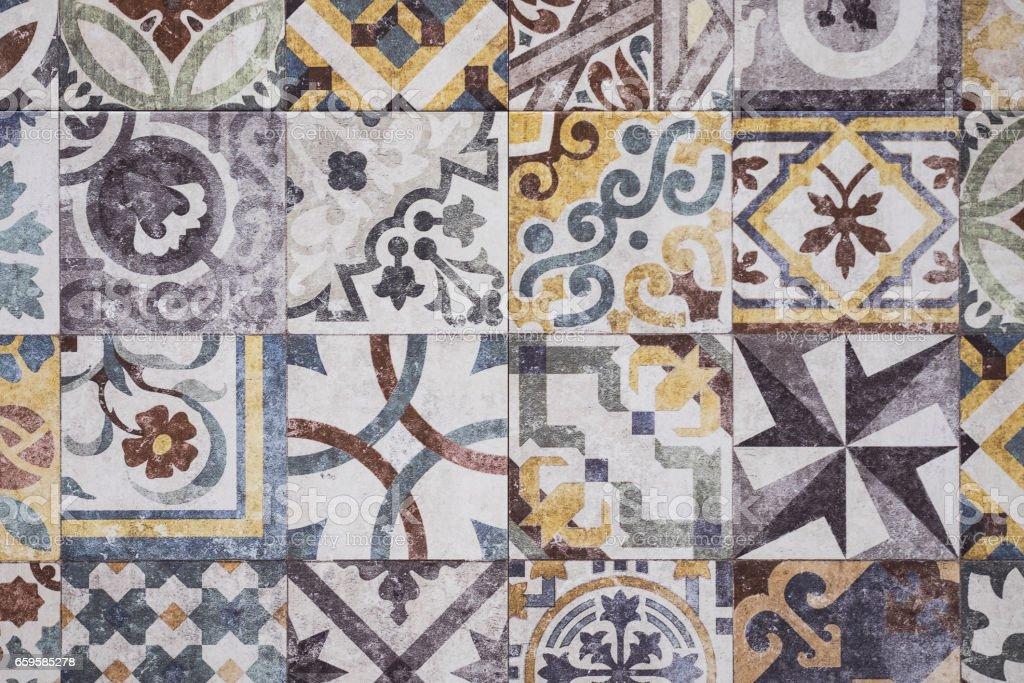 Mosaic floor texture moroccan tiles fotografie stock e altre