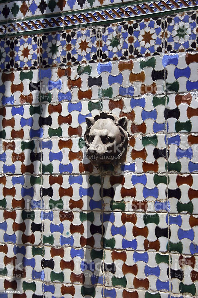 mosaic fountain royalty-free stock photo