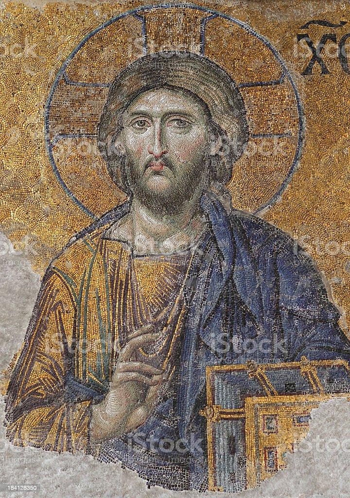 Mosaic Image of Jesus Christ royalty-free stock photo