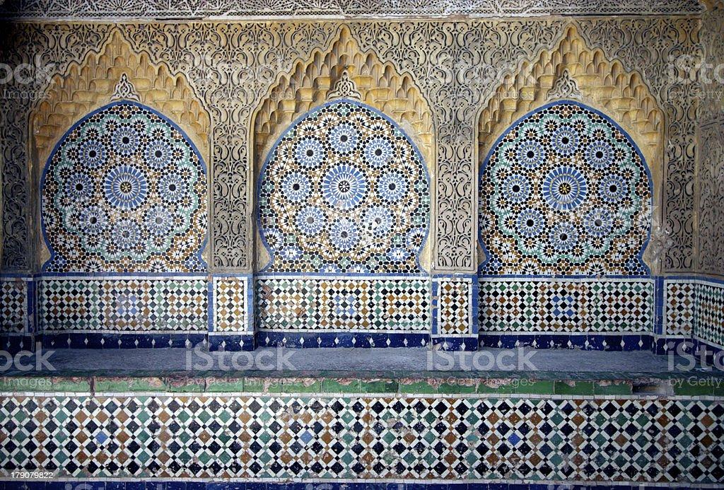 mosaic in kasbah stock photo