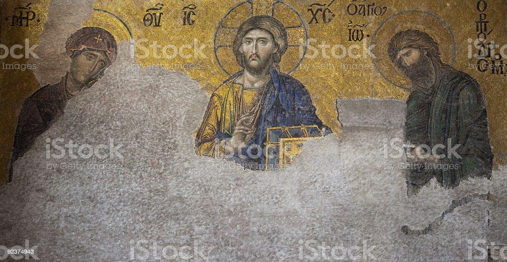 mosaic in Saint Sophia xxl royalty-free stock photo