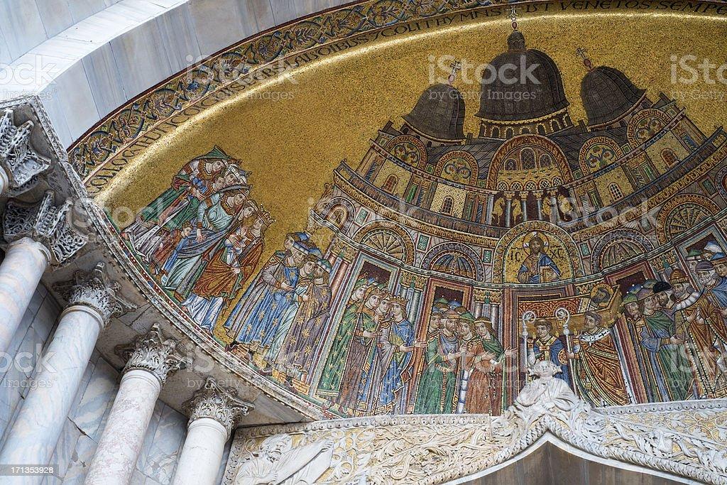 Mosaic in San Marco Basilica royalty-free stock photo