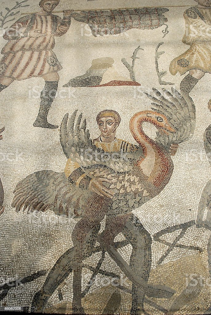 Mozaika w Villa imperiale del casale zbiór zdjęć royalty-free