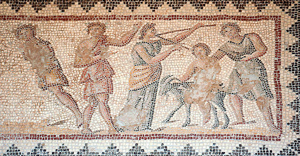 Mosaik im Zippori archäologische National Park, Israel – Foto