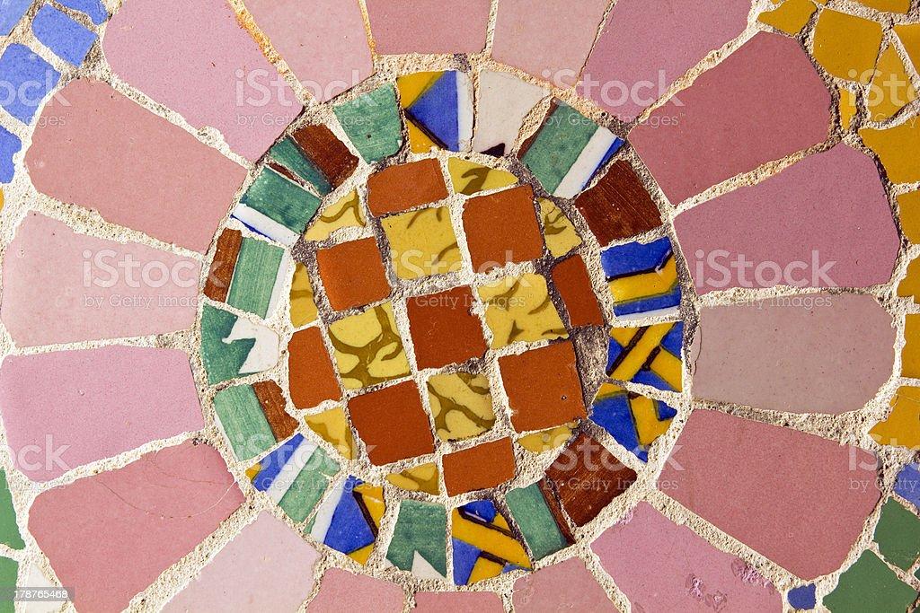 Mosaic. Modernist art stock photo