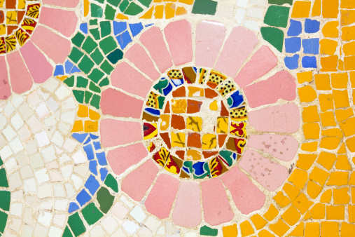 Mosaic. Modernist style (also called Art Deco)