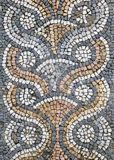 mosaik von aphrodisias - türkische fliesen stock-fotos und bilder