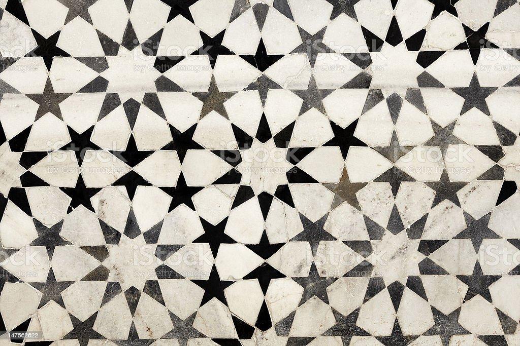Mosaico de m rmol blanco y negro fotograf a de stock y for Marmol negro y blanco
