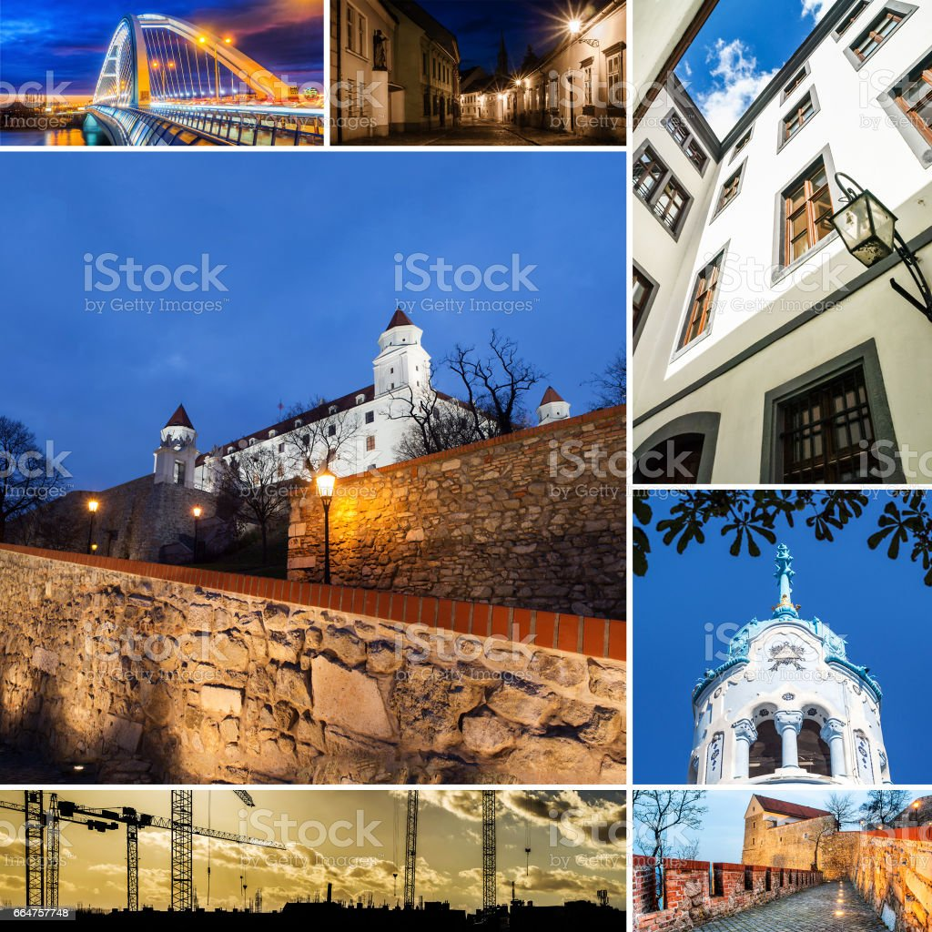 mosaic of Bratislava stock photo