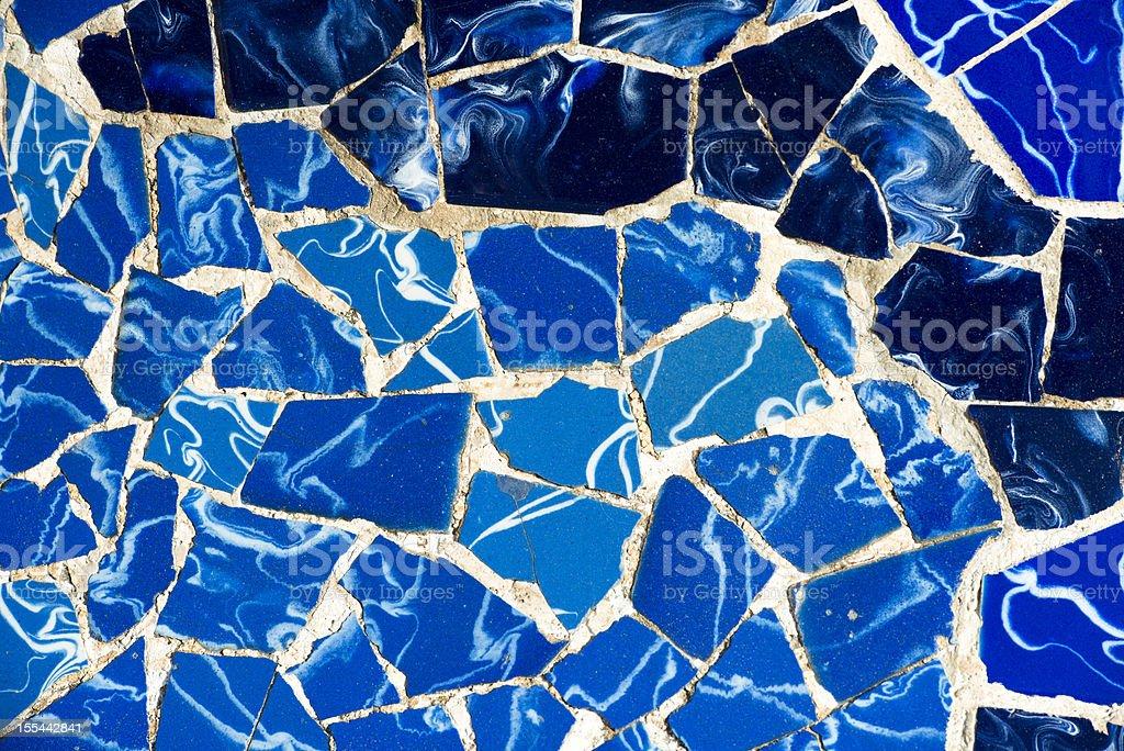 Mosaic of broken tiles stock photo