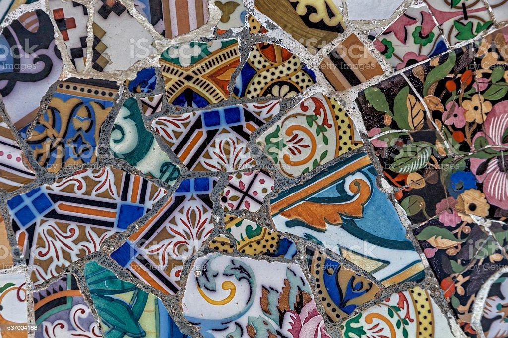Mosaico di tegole rotte fotografie stock e altre immagini di