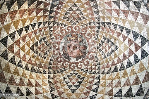 istock Mosaic of Dionysos, from the ruins of Corinth, Greece. 522223355