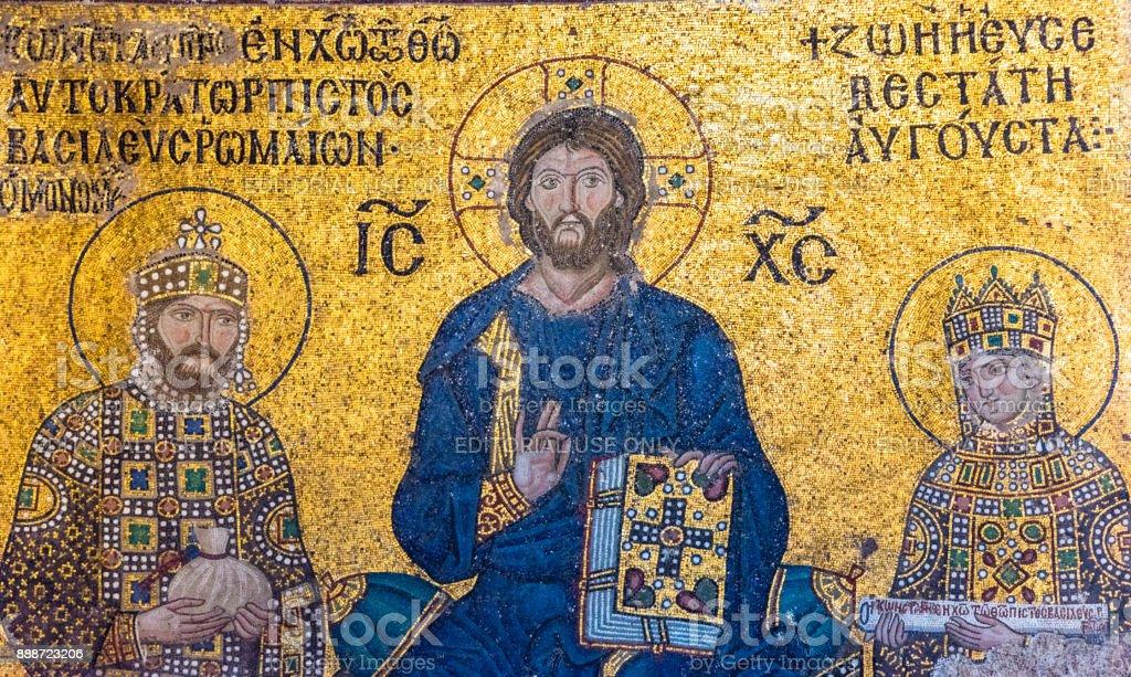 Mosaic of jesus christ is sitting on throne with empress zoe and mosaic of jesus christ is sitting on throne with empress zoe and emperor constantine ix monomachus altavistaventures Gallery