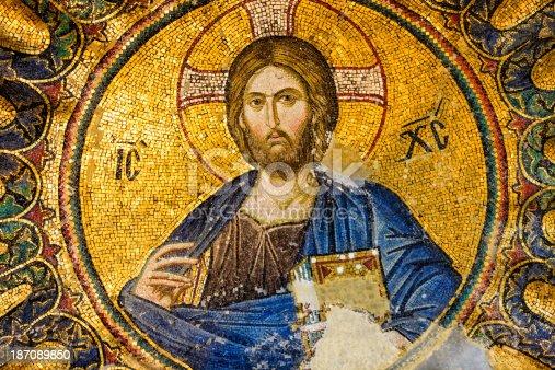 istock Mosaic of Jesus Christ, Istanbul, Turkey 187089850