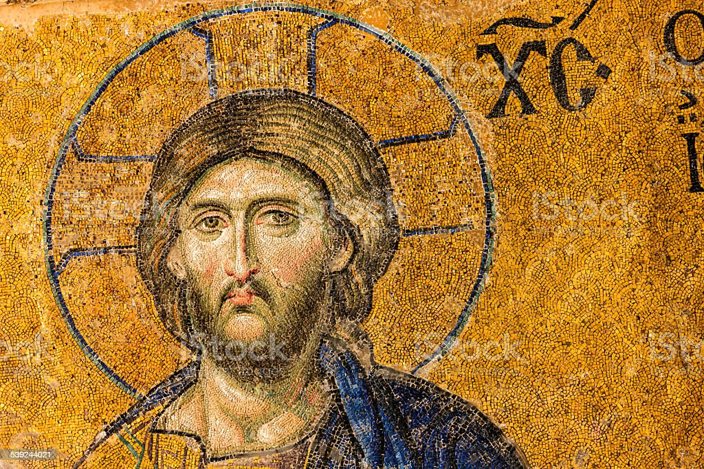 Mosaic of Jesus Christ, Istanbul, Turkey royalty-free stock photo
