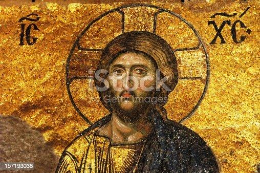 istock Mosaic of Jesus Christ 157193038