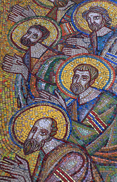 mosaic of saint apostles - conceptual symbol stock pictures, royalty-free photos & images