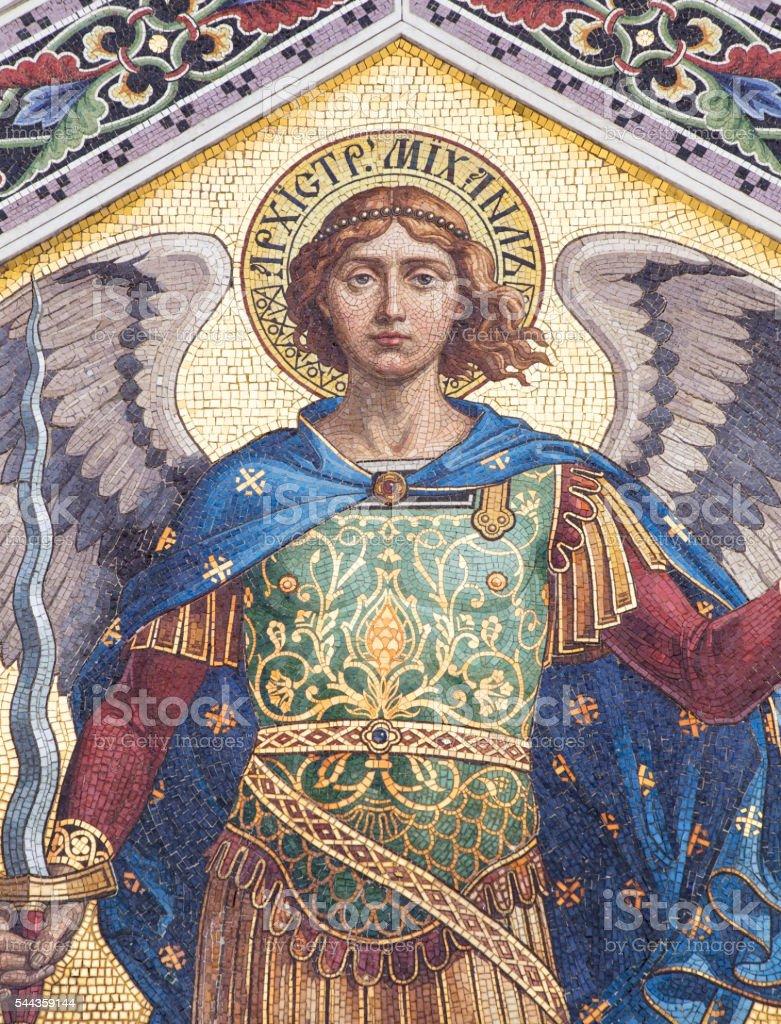 Mosaic of Saint Michael stock photo