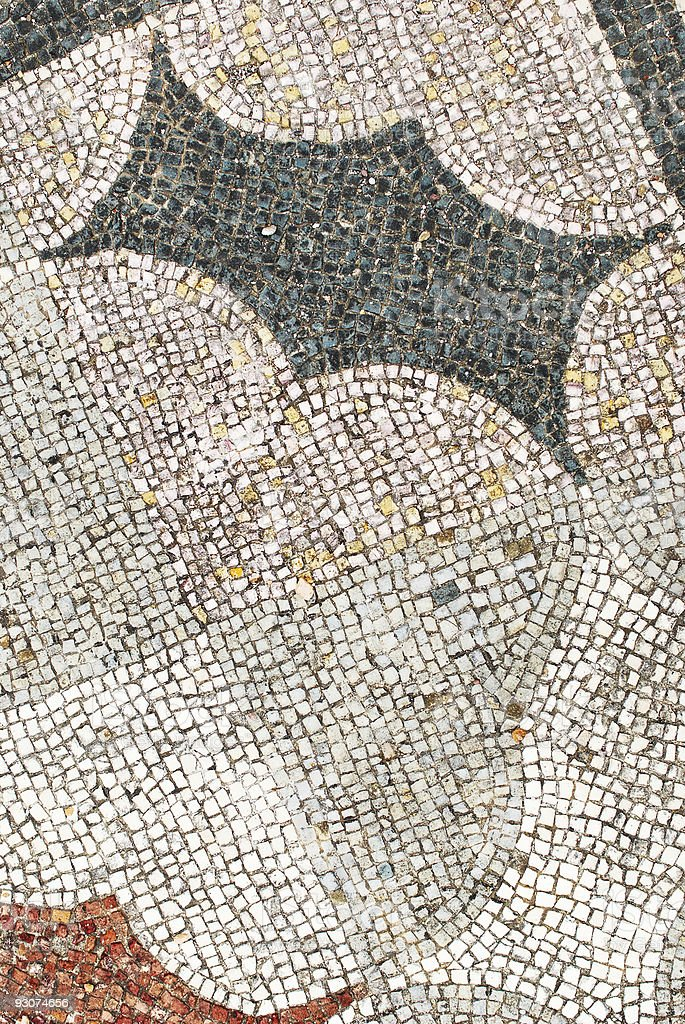 mosaic on the floor in Ostia, Italy royalty-free stock photo