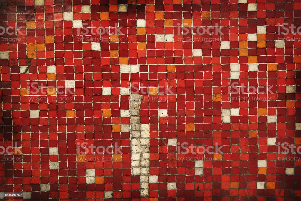 Mosaic (red) royalty-free stock photo