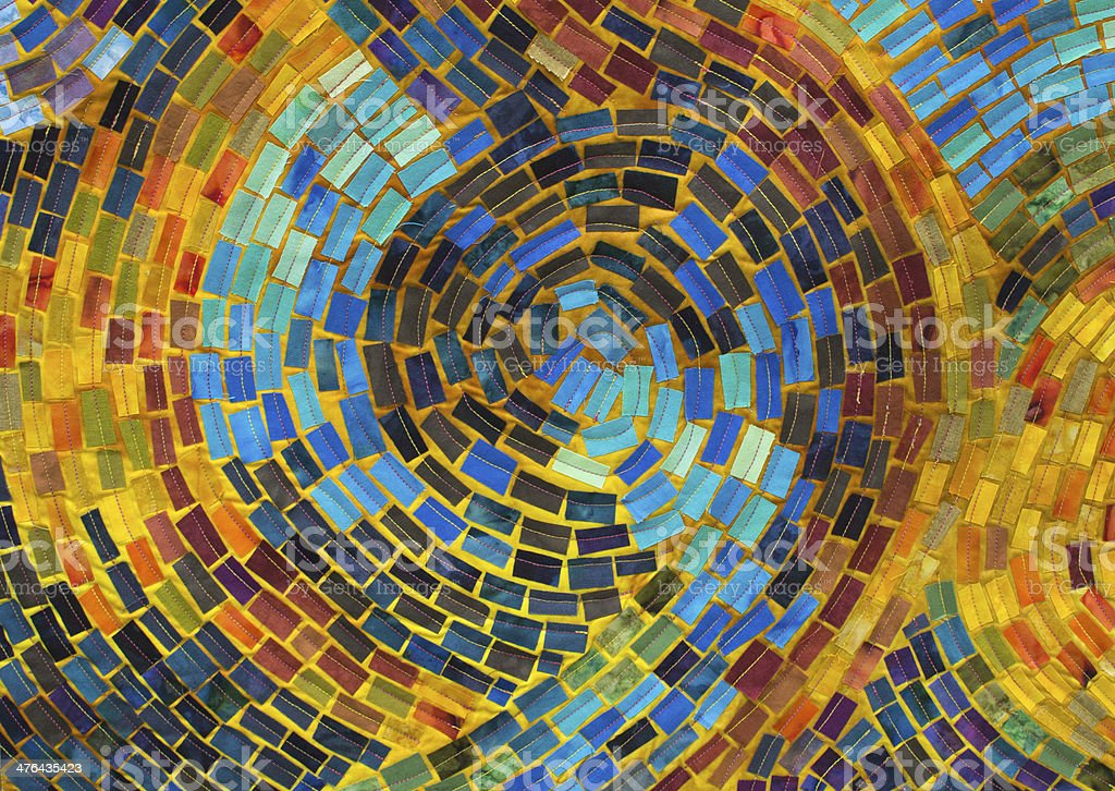 Mosaic Quilt Detail royalty-free stock photo