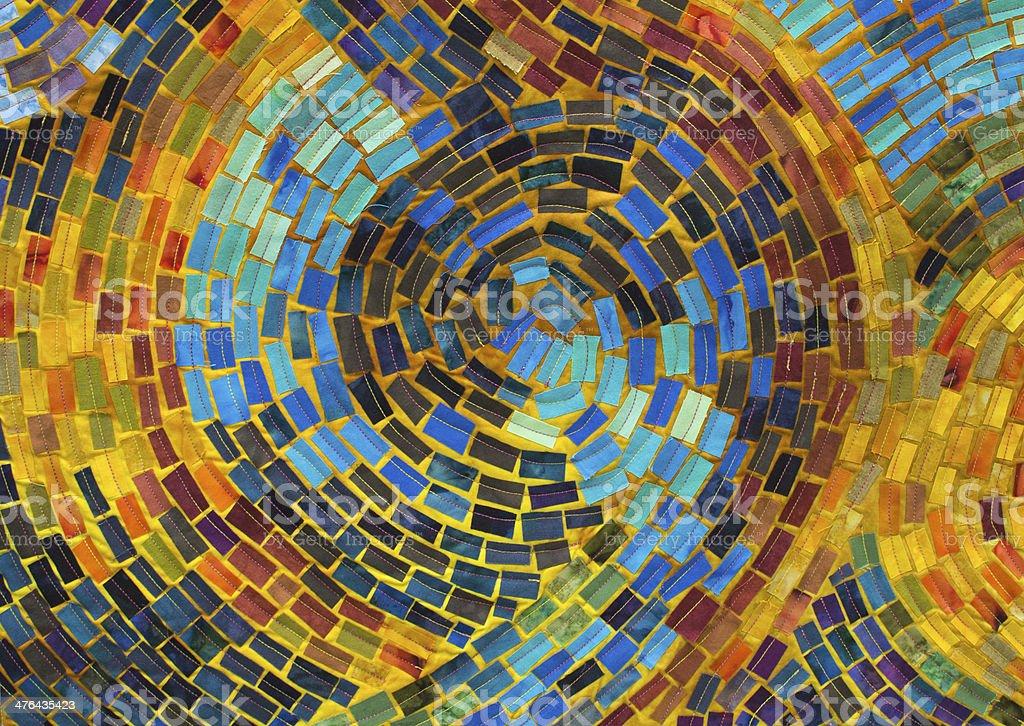 Mosaic Quilt Detail stock photo