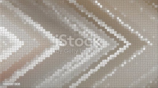 istock 3D mosaic rendering based on an abstract angular composition consisting of panels and lines 1000981908