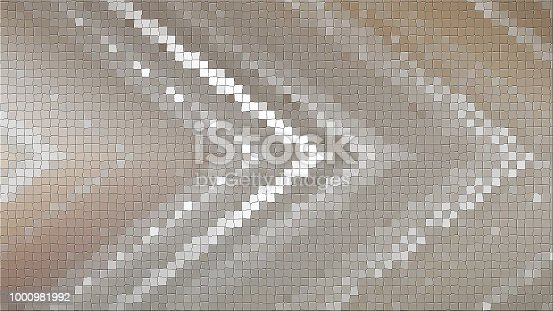 istock 3D mosaic rendering based on an abstract angular composition consisting of panels and lines 1000981992