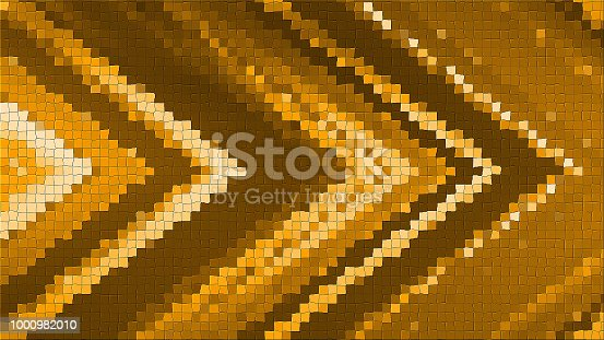 istock 3D mosaic rendering based on an abstract angular composition consisting of panels and lines 1000982010