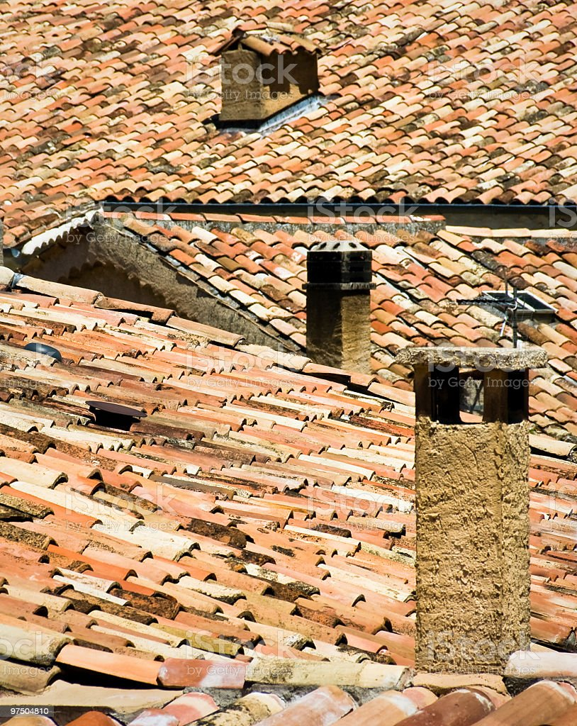 Mosaic Rooftops royalty-free stock photo
