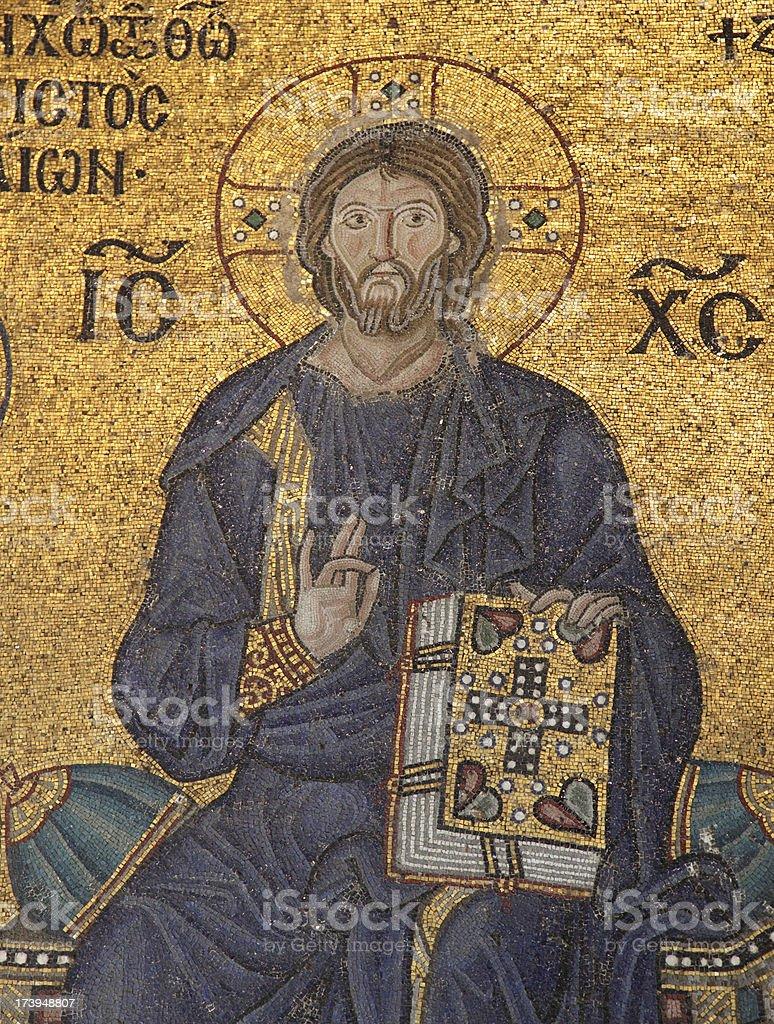 mosaic  sample from Hagia Sophia stock photo