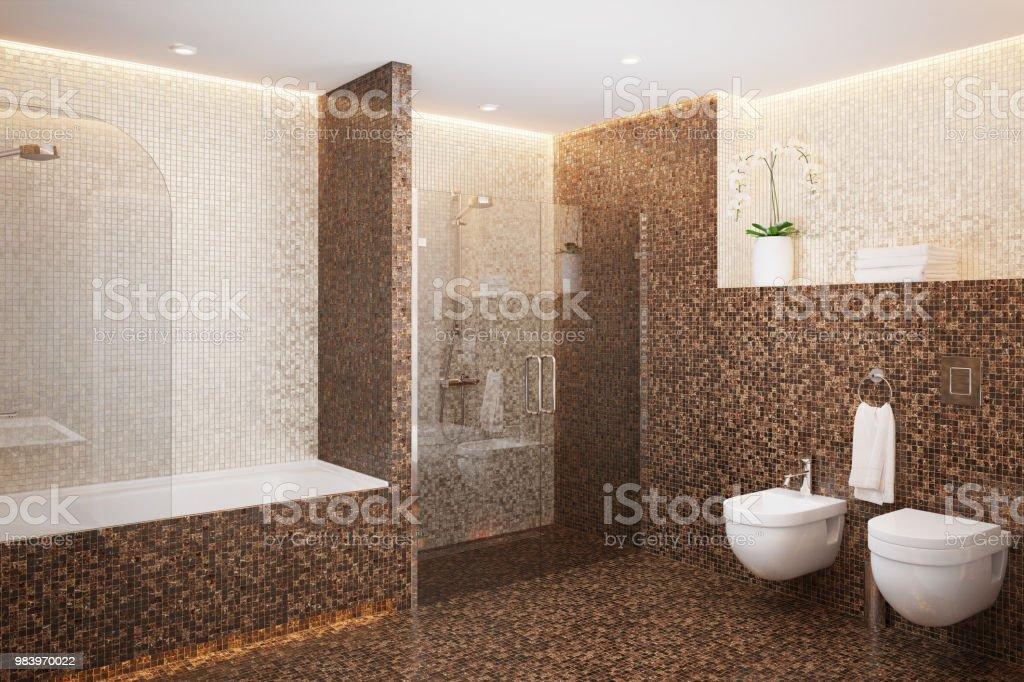Mosaik Mit Dusche Stockfoto und mehr Bilder von Architektur ...