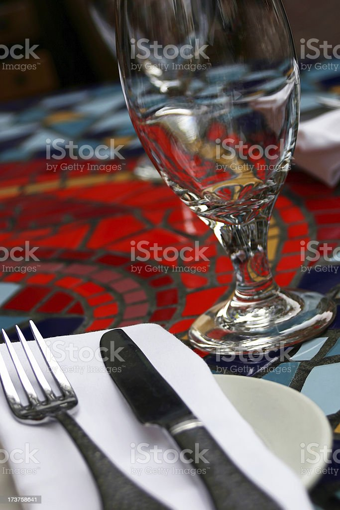 Mosaic Table Setting royalty-free stock photo