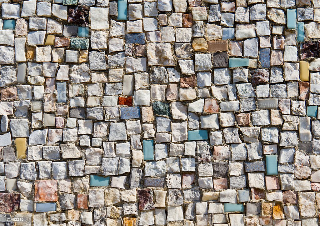 Mosaic Texture of little stone wall royalty-free stock photo