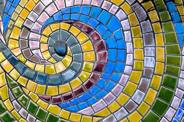 Azulejos de mosaico - foto de stock