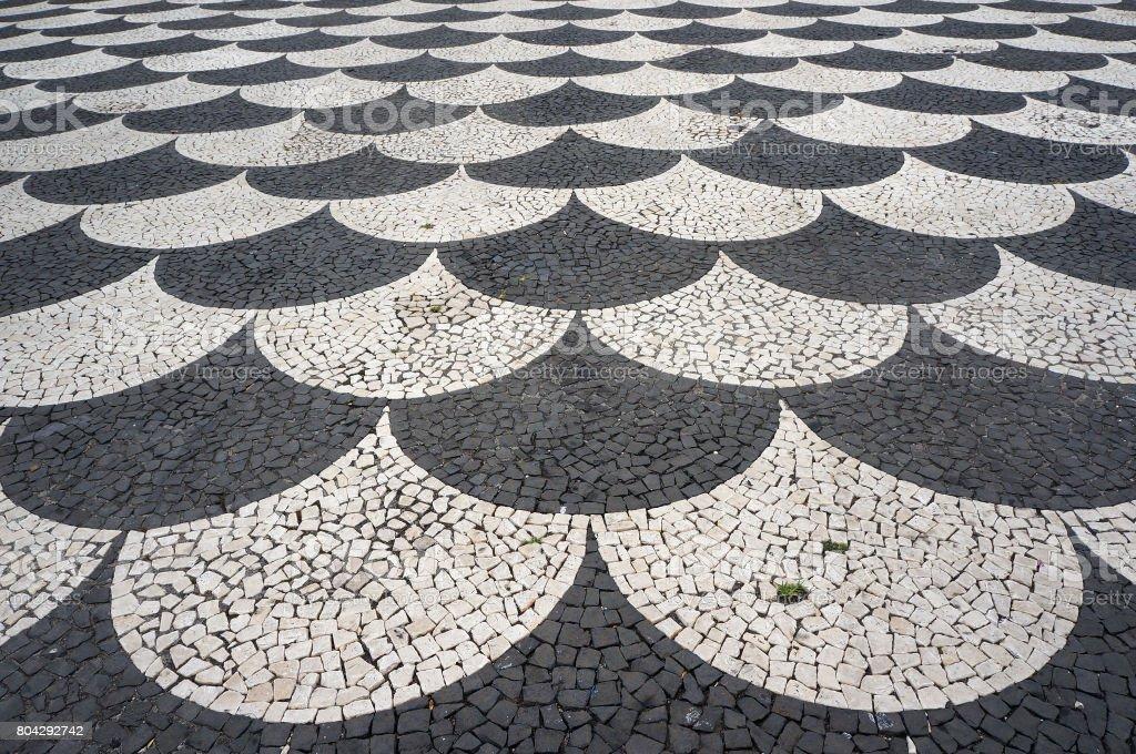 mosaik fliesen pflaster muster in funchal madeira portugal stock fotografie und mehr bilder von. Black Bedroom Furniture Sets. Home Design Ideas