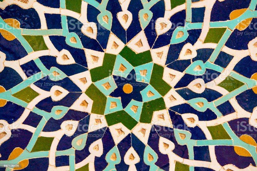 Mosaikwand Dekoration, Freitagsmoschee, Yazd, Iran – Foto
