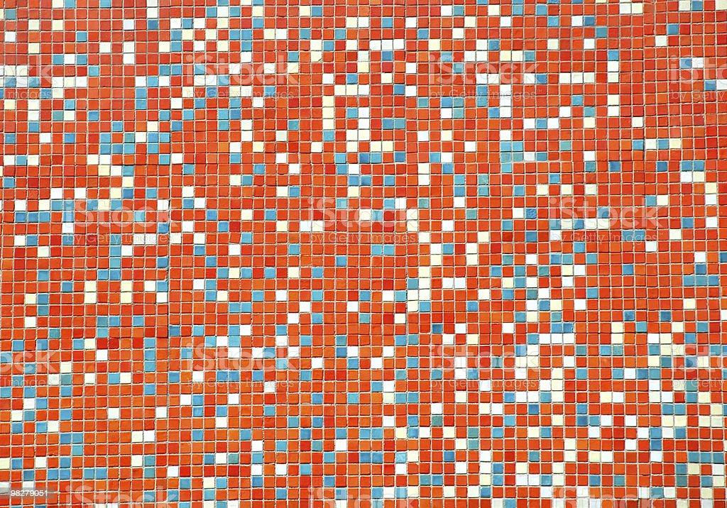 mosaic wall pattern royalty-free stock photo